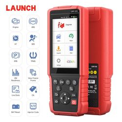 Original Launch CRP818 All Systems Diagnostic Tools ABS Bleeding ETS Reset DPF REG TPMS Reset Injector Coding OBD2 Scanner