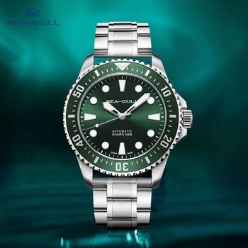 Seagull Watch Ocean Star Men's Automatic Mechanical Watch 100m Diving Watch Rolex Green Water Ghost Watch Dual Strap 6105 1