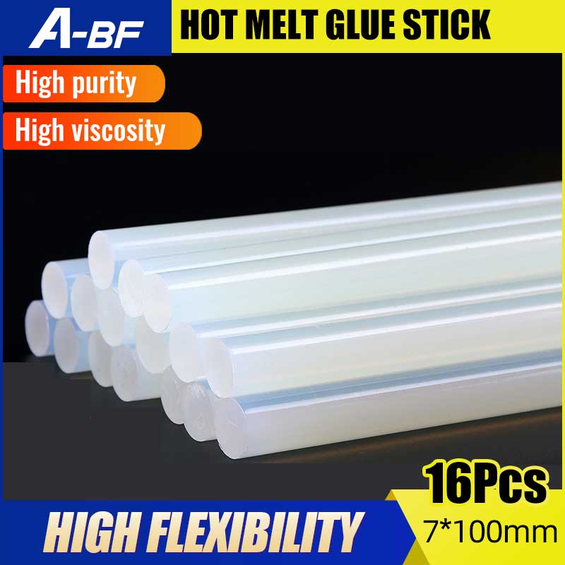 Hot Melt Glue Sticks High Viscosity Silicon Glue & Craft Album Repair Tools For Glue Gun JQ-8835/JQ8835B 16 Pcs 100*7mm