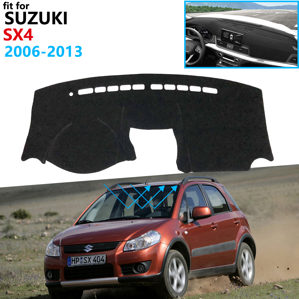 Dashboard Cover Protective Pad for Suzuki SX4 2006~2013 Car Accessories Dash Board Sunshade Carpet Maruti SX 4 SX 4 2012 2011|Car Stickers| |  - title=