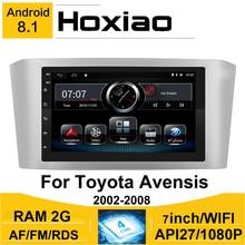 Auto Radio 2DIN Android 8,1 Für Toyota Avensis 2002 2008 2007 2006 2005 7 GPS Navigation RDS AM Bluetooth Auto multimedia Player