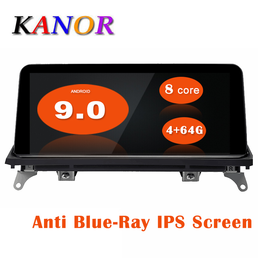 KANOR 10.25inch ID7 4G+64G Android 9.0 car multimedia player gps navigation for <font><b>BMW</b></font> <font><b>X5</b></font> <font><b>E70</b></font> X6 E71 with CIC CCC system 2007-2013 image