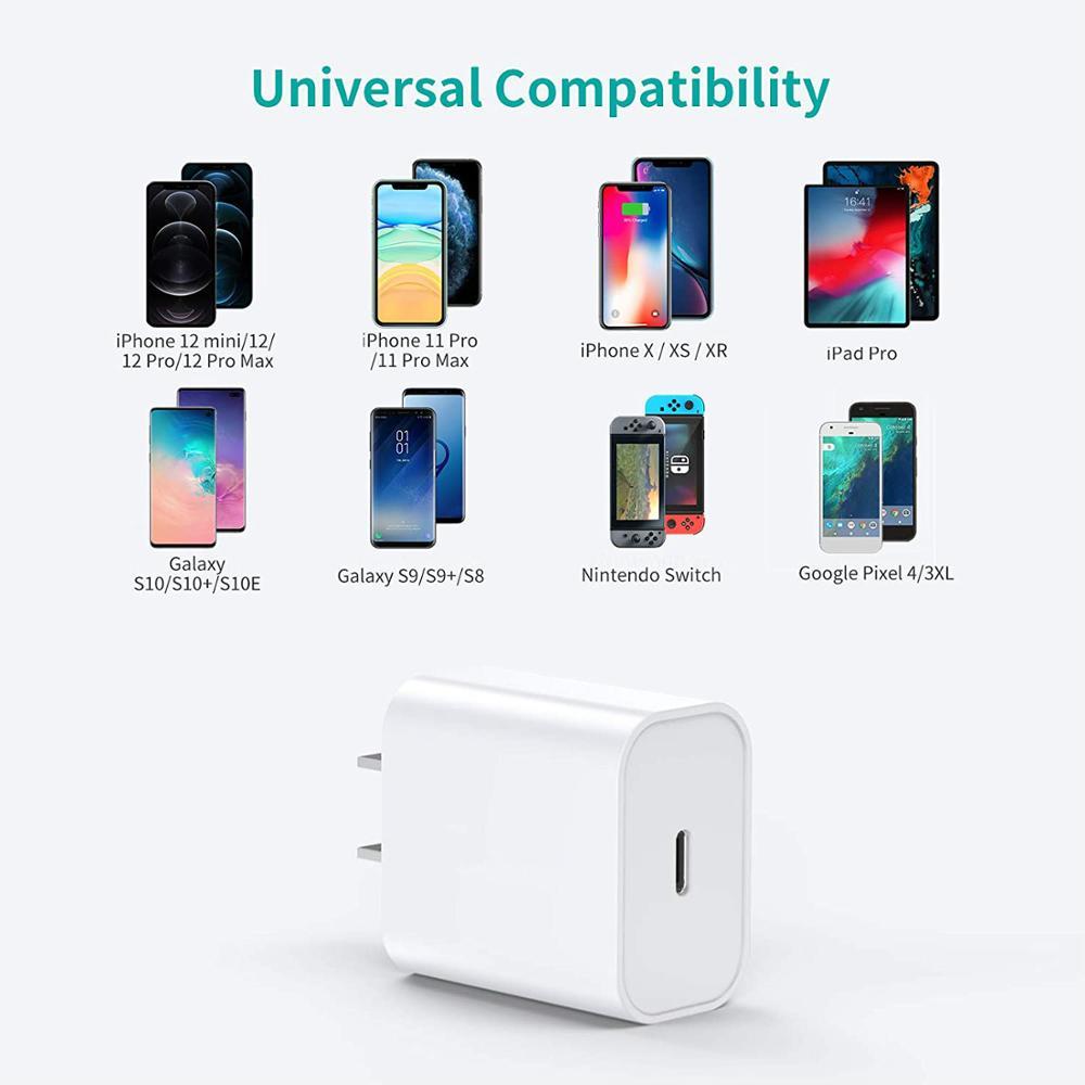 20 Вт 18 Вт Pd Usb C зарядное устройство для Iphone 12 Pro Max 11 Xs Xr для быстрой зарядки зарядным устройством типа C Qc 3,0 на Xiaomi быстрой зарядки мобильный телефон зарядное устройство-5