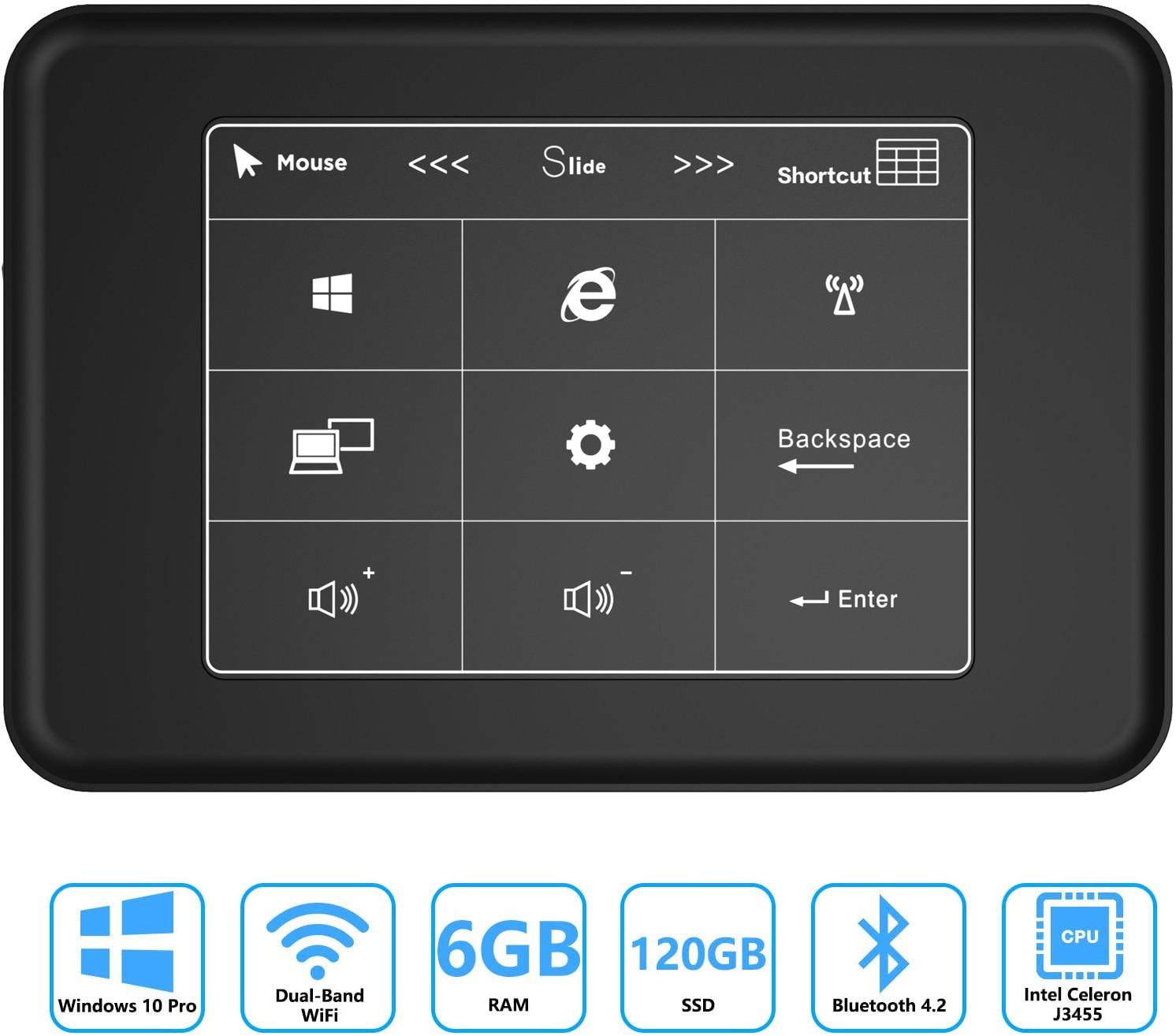 Дешевый мини ПК Windows 10 Pro 6 Гб Ram 512 ГБ 1 ТБ SATA SSD Celeron J3455 4K HD Graphics мини-компьютер HDMI Gigabit Dual Band