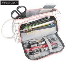 חדש סופר קלמר Kawaii גדול קיבולת Pencilcase מקרה עט בית ספר אספקת עיפרון תיק בית ספר תיבת עפרונות פאוץ מכתבים