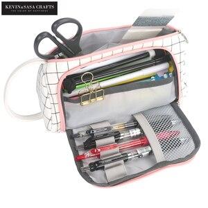Image 1 - חדש סופר קלמר Kawaii גדול קיבולת Pencilcase מקרה עט בית ספר אספקת עיפרון תיק בית ספר תיבת עפרונות פאוץ מכתבים