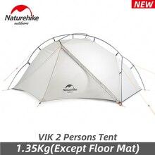 Naturerandonnée nouveau VIK 2 personnes 15D Camping tente 1350g ultraléger extérieur imperméable à la pluie résistant à la neige randonnée voyage tente donner des tapis gratuits