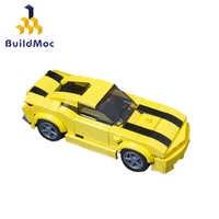 Buildmoc-bloques de construcción de coche deportivo para niños, juguete de piezas de bloques de coche deportivo, compatible con vehículos de carreras, supercoche, regalos de juguetes para chicos