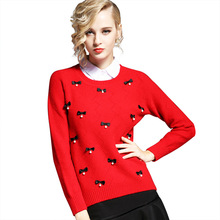 2019 New Sweater Women Pullover Sweater Solid Color Crew Neck Bow Base Knit Sweater Burst Pullovers O-Neck Black Sweaters Women navy oversize knit crew neck sweater