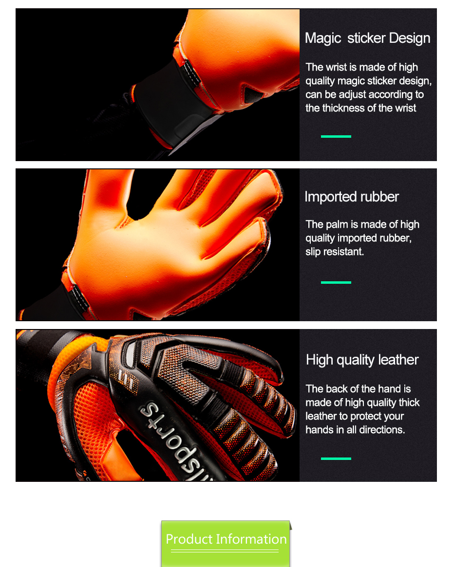 Professional Goalkeeper Gloves With Finger Protection 6