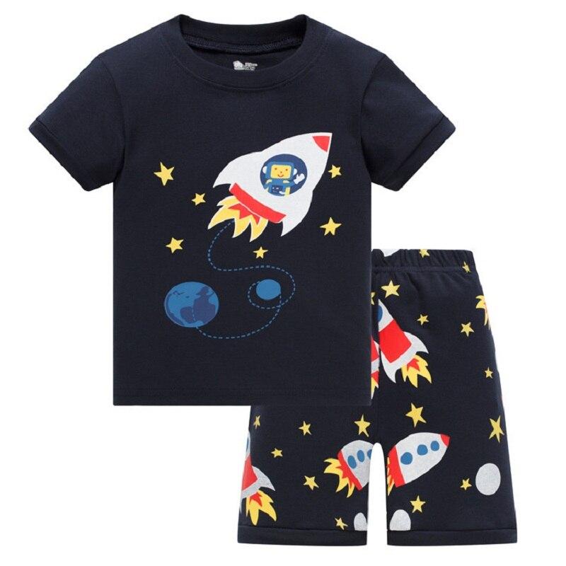 2020 verão meninos pijamas ternos de manga curta pijamas crianças conjuntos frete grátis