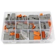 DTM Waterproof Wire Connector Kit DTM06-2/3/4/6/8/12S DTM04-2/3/4/6/8/12P Automotive Sealed Plug with pins велосипедные тормоза magura 2 4 6 8 sh857s