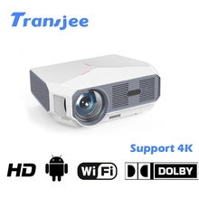 TRANSJEE HD Projector for Phone support 4K 4600 Lumens Projector