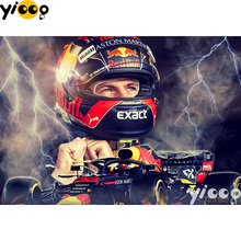 5D DIY diamond Painting Cross Stitch full square drill embroidery famous racing driver Diamond mosaic Home Decor Gift BX0398