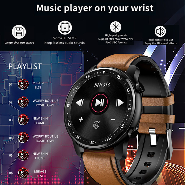 Full Touch Smart Watch Bluetooth Call Play Music Sport Smartwatch Men Women Heart Rate Fitness Tracker Watch For Android Iphone 4
