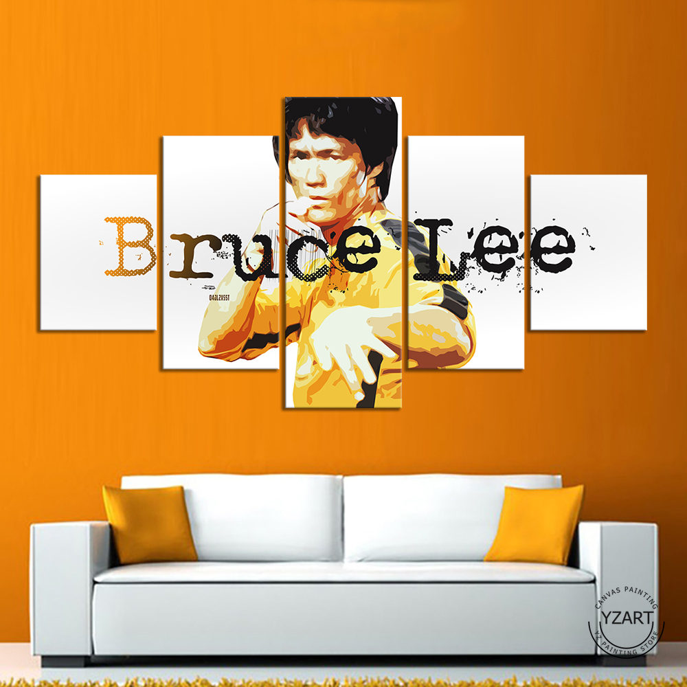 Movie Star Bruce Lee Legendary Documentary HD Wall Picture for Living Room Decor image