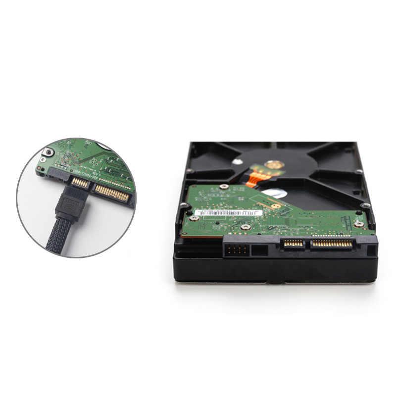 50 センチメートル SATA 3.0 III SATA3 7pin データケーブル 6 ギガバイト/秒 SSD ケーブル Hdd ハードディスクデータコードとナイロン長袖プレミアムバージョン