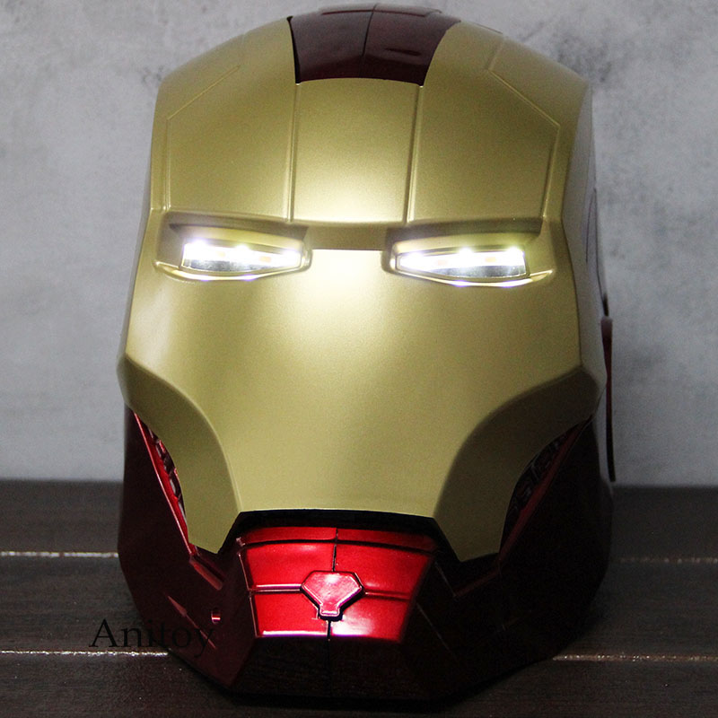 Image 5 - Marvel Avengers Iron Man Helmet Mask Motorcycle Iron Man Cosplay Helmet 1:1 Light Eyes PVC Action Figure Collectible Model Toy-in Action & Toy Figures from Toys & Hobbies