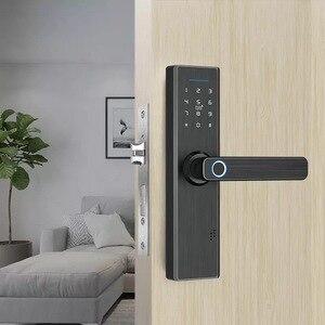 Image 5 - Tuya blocco biometrico dellimpronta digitale, blocco intelligente intelligente di sicurezza con sblocco RFID Password APP WiFi, serratura elettronica hotel