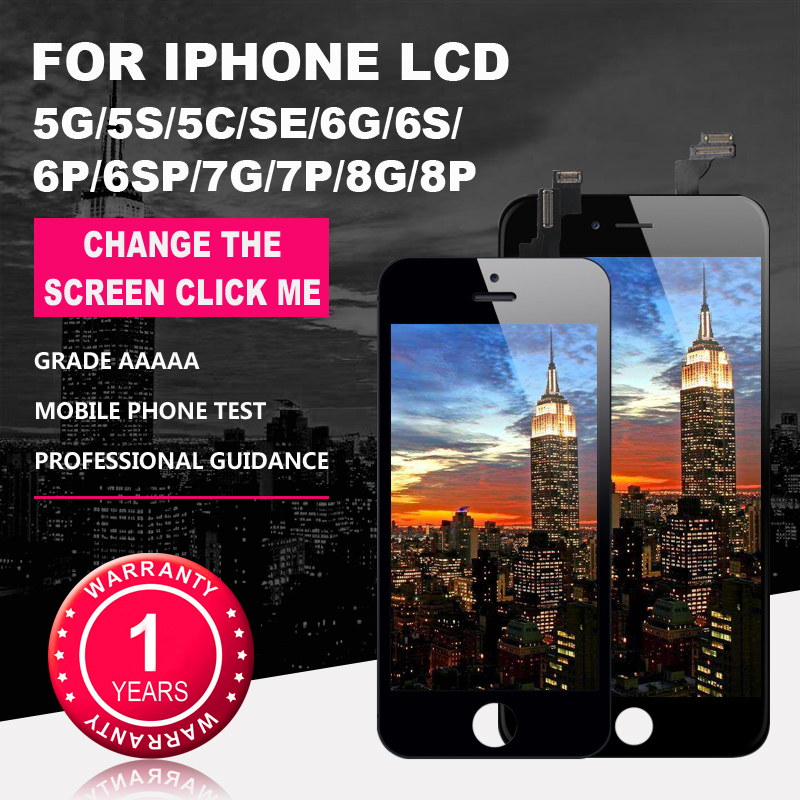 Grade AAAA+++ for iPhone 6 6S 6P 6SP 7 7P 8 8Plus LCD with Perfect 3D Touch Screen Digitizer Assembly for iPhone 5S 5 5C Screen(China)
