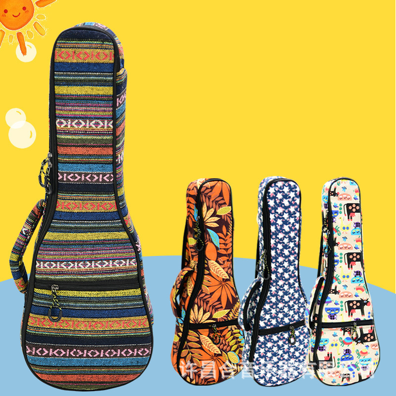 23 Inch Portable Cotton Nylon Padded Bass Guitar Gig Bag Ukulele Case Box Guitarra Cover Backpack With Double Strap