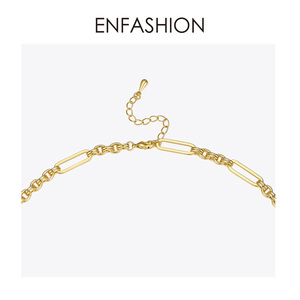 Image 4 - ENFASHION Long Link Chain Choker Necklace Women Gold Color Statement Necklace Lady Fashion Femme Jewelry Dropshipping P193059