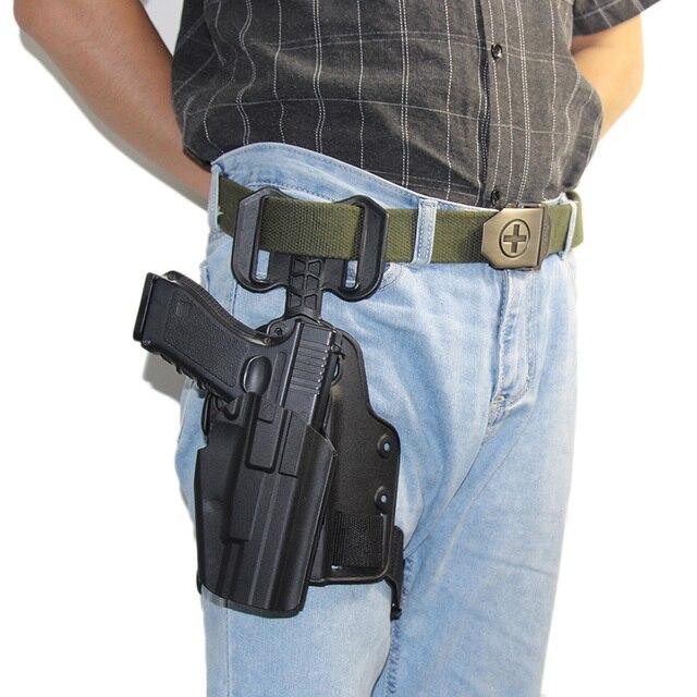 Tactical Drop Leg Gun Holster for BERETTA M92 Glock 17 19 CZ75 TAURUS PT840 HK USP SIG SAUER 226 Holster Pistol Airsoft Platform 1