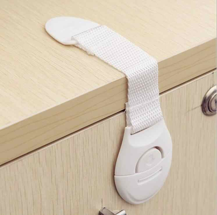 1 Piece Protection Door Lock Cabinet Wardrobe Refrigerator Safety Safe Cloth Belt Lock For Kid Child Baby Drawer security