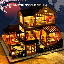 Wooden DIY House Miniature Box Puzzle Assemble 3d Miniaturas Dollhouse Kits Toys For Children Birthday Gift Doll House