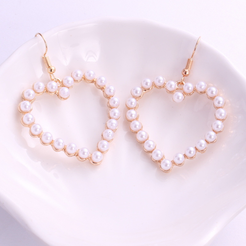 2018 New Summer Lovely Colourful Bow Earrings For Women Geometry Circle Simulated Pearl Earrings Boucle D'oreille Brinco