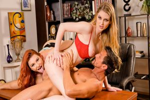 ScamAngels  Bunny Colby, Lacy Lennon  Fucking the boss out of a job