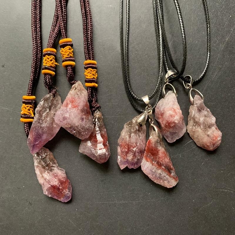 Натуральный ауральит 23 кристалла, грубая подвеска, энергетические Исцеляющие кристаллы, необработанные камни, украшение ожерелья, 1 шт., опт...