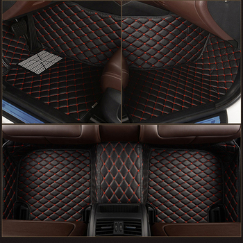 leather Custom car floor mat for toyota rav4 Land Cruiser Prado Corolla CAMRY Prius c-hr carpet alfombra car Accessories image