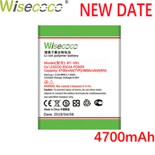 Wisecoco BT-591 4700mAh New Powerful Battery For LEAGOO KIICAA POWER Phone Replace + Tracking Number