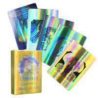 Cartas de oráculo de la diosa guía holográfica, juego de mesa de fiesta familiar para adultos y niños, Tarot de adivinación D