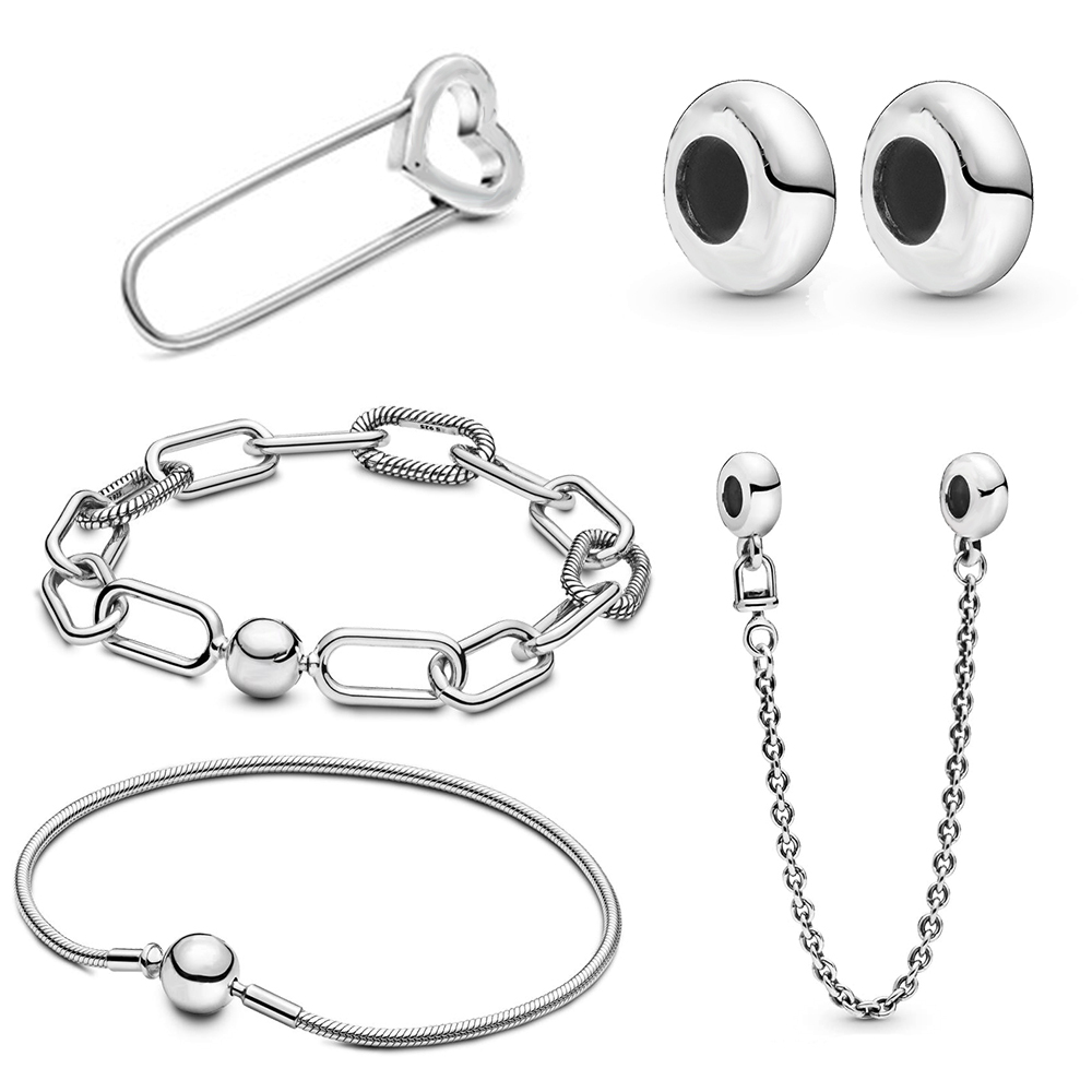 New Classic High Quality Me Series Pin, Safety Chain, Gasket, Snake, Chain Bracelet Diy Original Ladies Jewelry Simple Best Gift