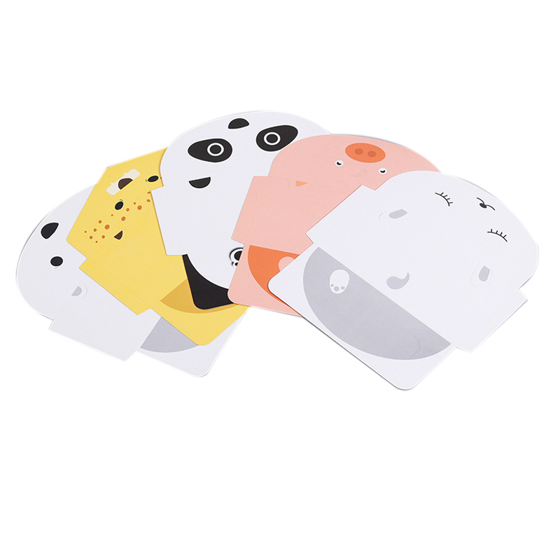 25Pcs Folding Animal Panda Pig Foxes Tiger Card Birthday Greeting/Message Card Postcard Christmas New Year Gift Card Universal