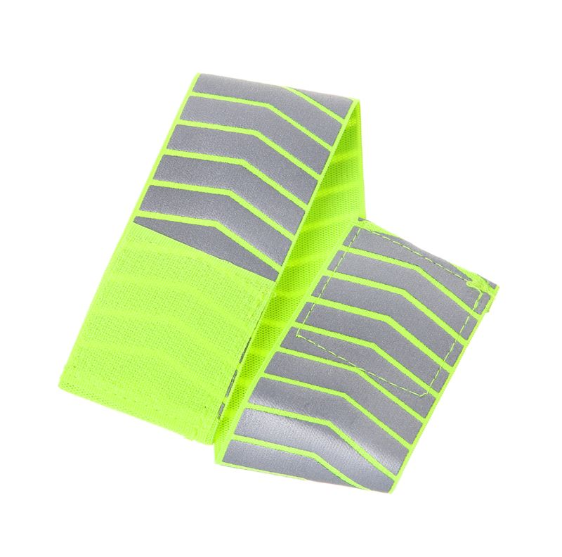 Running Fishing Cycling Reflective Strips Warning Bike Safety Bicycle Bind Pants Hand Leg Strap Reflective Tape DXAC