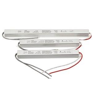 Image 4 - Ultra cienki zasilacz LED DC12V 18W 25W 36W 48W 60W transformatory oświetleniowe AC110 220V sterownik dla listwy LED tablica reklamowa