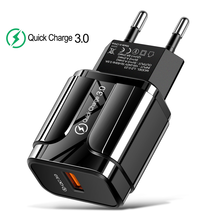 Quick Charge 3.0 USB Charger QC 3.0 Fast Charging EU US Plug Adapter Wall Mobile Phone Charger For iPhone Samsung Xiaomi huawei usb charger eu us plug 3 ports quick charge fast charging mobile phone charger for iphone x samsung xiaomi huawei travel charger