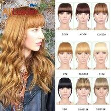Alileader, синтетические натуральные волосы, жаростойкие, короткие, прямые, спереди, аккуратные, на заколках, короткая челка для наращивания волос