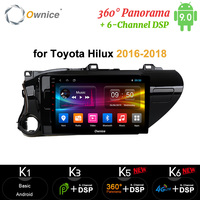 Ownice 64G 4G Android 9.0 car radio 2din auto DVD on board computer Navigation GPS AUDIO headunit for Toyota Hilux 2016 2018