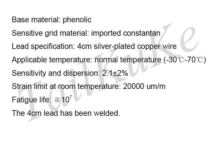 10 Фольга тензодатчик/Бетон тензометрических BX120-20AA