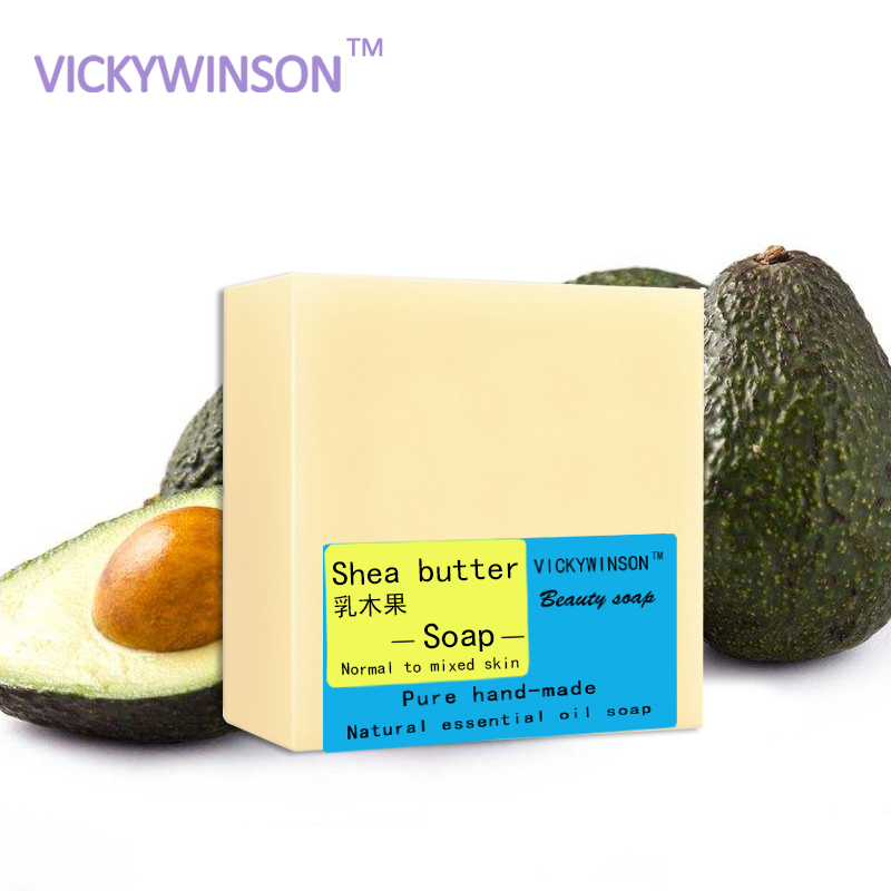 VICKYWINSON Hand Soap Cleansing Soap Black Head Acne Shea Butter 100g Face Care Skin Beauty Makeup Handmade Soap