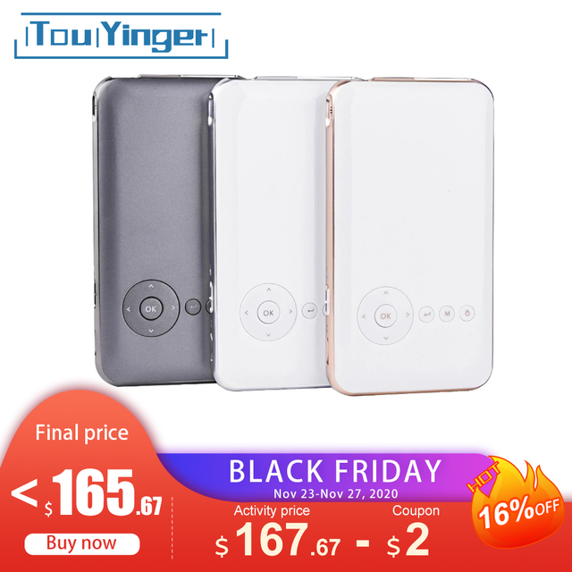 5000mah Touyinger Everycom S6 플러스 피코 포켓 휴대용 프로젝터 스마트 폰 안 드 로이드 dlp wifi 미니 led 안 드 로이드 AC3 블루투스