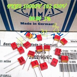 Image 1 - 20PCS החדש אדום WIMA FKP2 1nF/630V 102/630V 1000P PCM5 אודיו מכירה לוהטת FKP 2 102 1NF 0.001UF 1000PF 630V