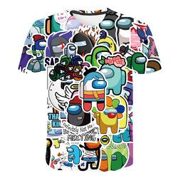 Funny Game Among We Tops 4-16T Children Boys T-Shirt Impostor Graphic Kid Tops 3D Cartoon Shirts Summer Short Sleeve Cool Tee