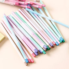 12pcs cute warm color hexagon HB standard wooden pencil student stationery writing drawing pencil school office supplies