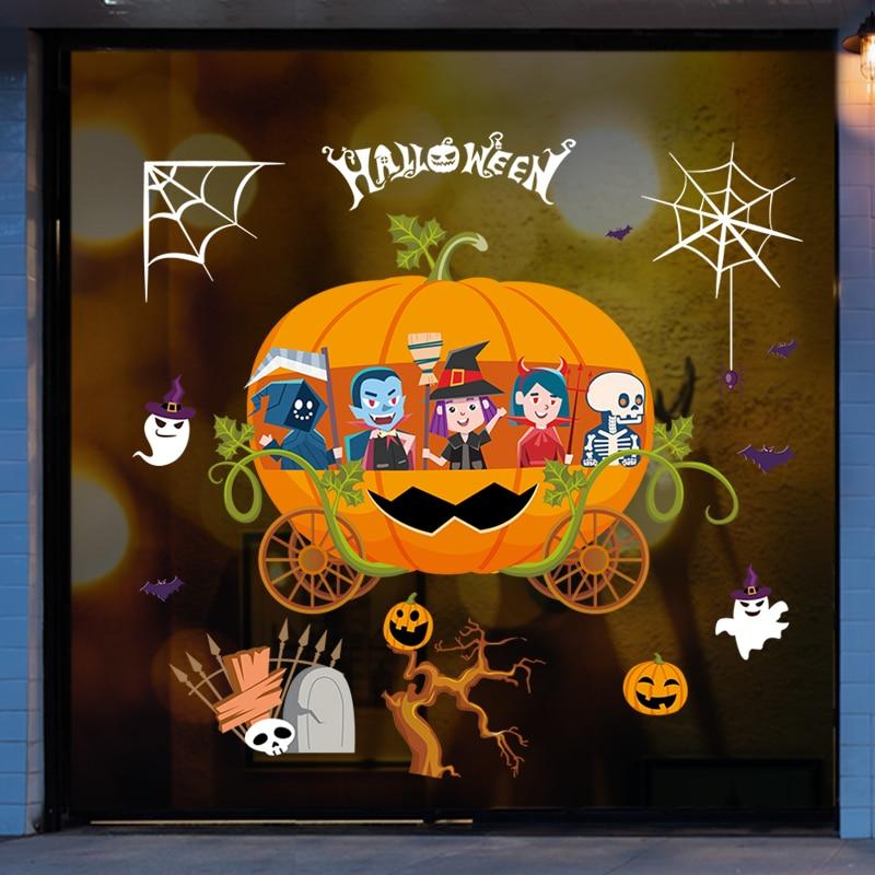 Happy Halloween Background Wall Sticker Window Home Decoration Decal Decor Art Nature