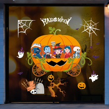 Happy Halloween Background Wall Sticker Window Home Decoration Decal Decor Art Nature